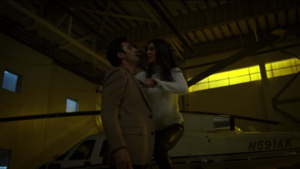 Gilles Marini (left) in Daredevil- The Man in the Box