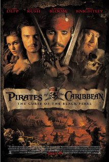 Pirates of the Carribbean 2003 poster.