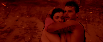 Nathan Phillips (II) with Jessica De Gouw just before their deaths in 'These Final Hours'