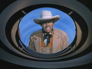 Rhodes Reason veiwing himself in 'The Time Tunnel-The Alamo'