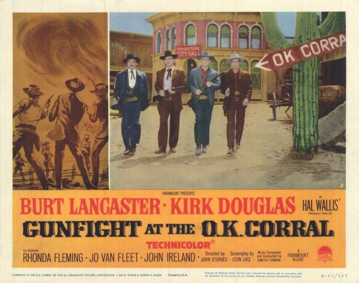 Image result for gunfight at o.k corral poster