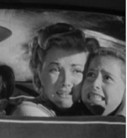 Unknown Actress 52-B (R) with Phyllis Coates just before their deaths in 'Invasion U.S.A.'