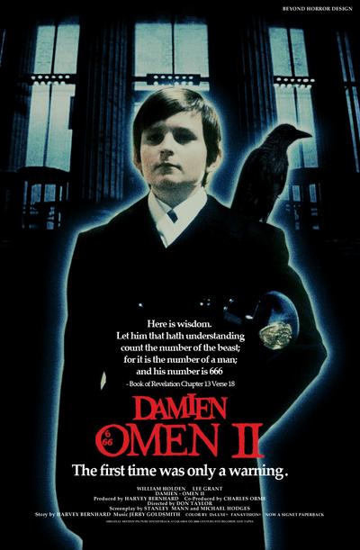 Damien Omen 2 v2 Poster by Beyond