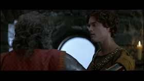 Stephen Billington just before his death in Braveheart.