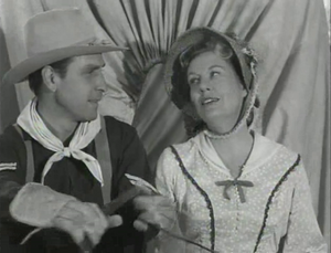 Irene Windust with Bill Catching just before their deaths in 'Wagon Train-The Colonel Harris Story'