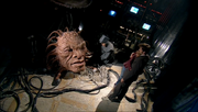 The Face of Boe (Struan Rodger) dead in Doctor Who-Gridlock