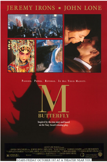 M Butterfly (1993) Poster