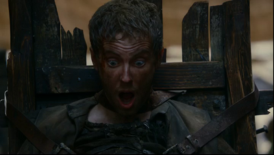 Donal Gallery being tortured in Game of Thrones-Garden of Bones