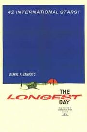 Original movie poster for the film The Longest Day