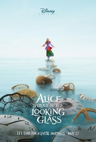 Large alice through the looking glass