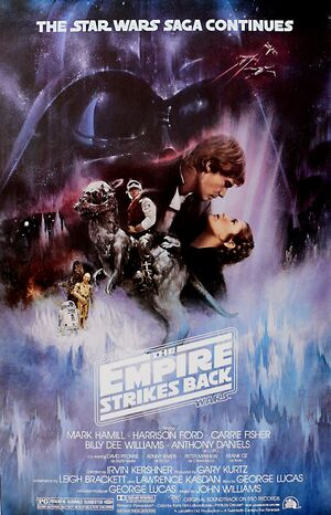 Star Wars - The Empire Strikes Back (1980) Style A by Roger Kastel