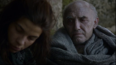 Donald Sumpter just before his death in Game of Thrones-Valar Morghulis