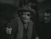 Morgan Woodward after being shot in the back in 'Wagon Train-The Alexander Portlass Story' (2)