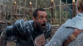 Alexander Siddig stabbed in Merlin-The Moment of Truth