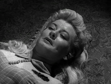 Constance Ford mortally wounded in Gunsmoke-Poor Pearl