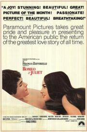 Romeo and Juliet 1968 film poster