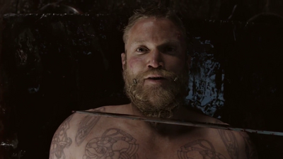 Diarmaid Murtagh just before his death in Vikings-Sacifice