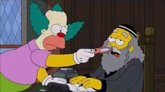 The Simpsons Rabbi Hyman Krustofsky Death scene Funeral