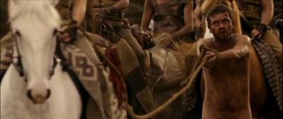 Simon Lowe behind Emilia Clarke's horse