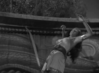 Unknown Actress 45-B being killed in 'Tarzan and the Amazons'