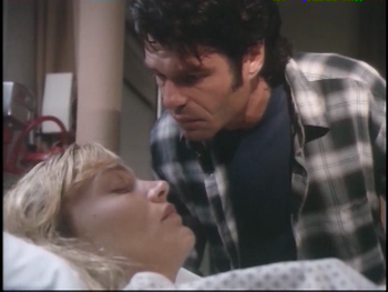 Daphne Ashbrook with Harry Hamlin in 'Poisoned by Love-The Kern County Murders'