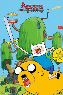 Cartoon-adventure-time-sword-shield-poster-TRrp5667