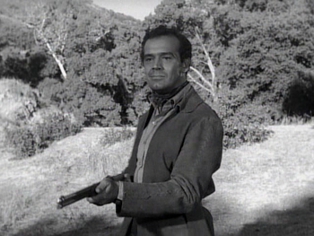 Val Dufour just before his death in 'Incident of the Tumbleweed Wagon'