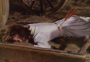 Unknown Actress 64-B dead in 'Wagon Train-The Last Circle Up'