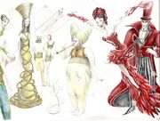 Zarkana costumes sketch