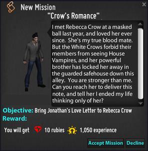 Crow's Romance p1 mission