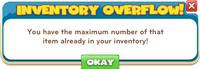 Inventory overflow