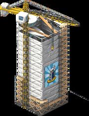 Sailboat Hotel Scaffolding
