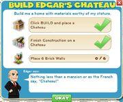 Build Edgar's Chateau goals