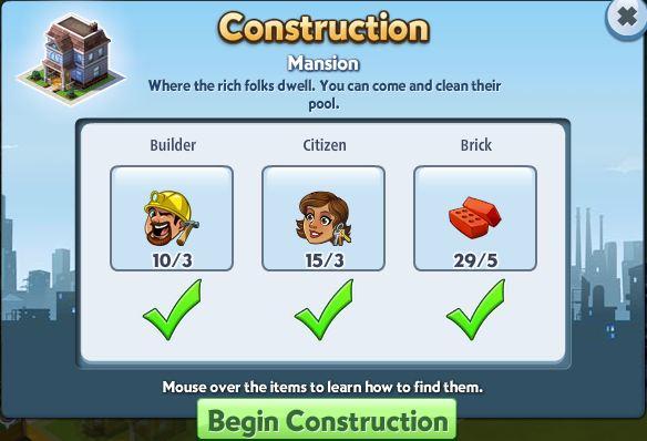 Mansion construction