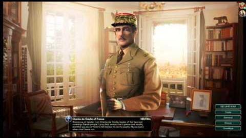French Republic - Charles de Gaulle Peace