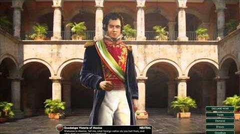 Mexico - Guadaloupe Victoria - War