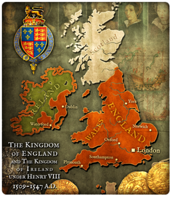 Map Of England Henry Viii.England Henry Viii Civilization V Customisation Wiki