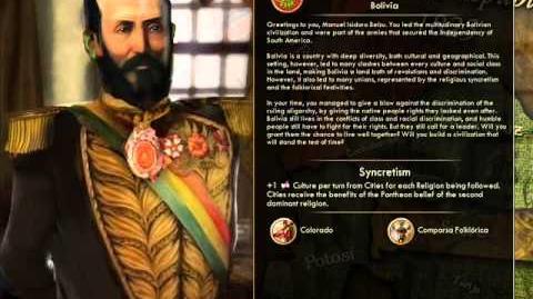 Bolivian Republic - Isidoro Belzu Peace