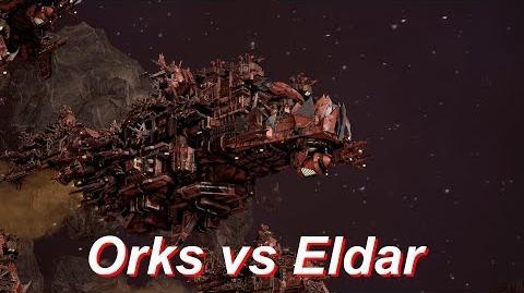 Orks vs Eldar! Rank 51, Heroic Difficulty, 1500 Points - Battlefleet Gothic Armada-0