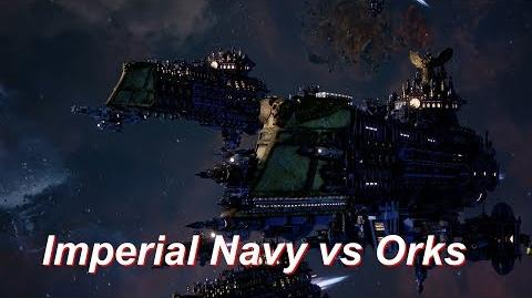 Imperial Navy vs Orks! Rank 158, Heroic Difficulty, 1500 Points - Battlefleet Gothic Armada-0
