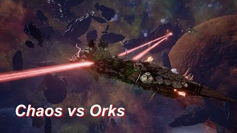 Chaos vs Orks! Rank 109, Heroic Difficulty, 1500 Points - Battlefleet Gothic Armada