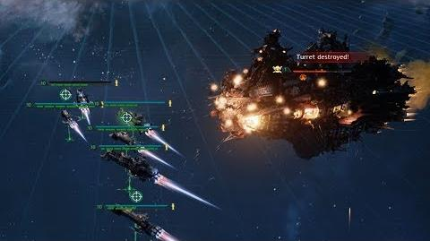 THE INQUISITION FORCES PURGE THE FILTHY XENOS WITH THEIR SPACE HULK! - Battlefleet Gothic Armada