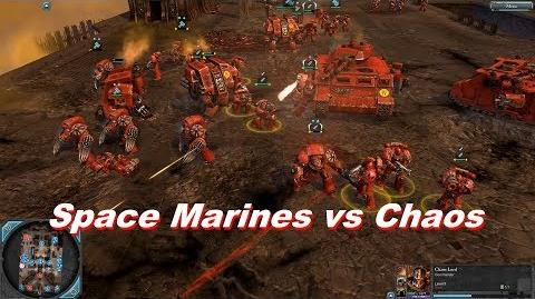 Space Marines vs Chaos Space Marines - Warhammer 40k Dawn Of War 2 Retribution - SupaEpicFun Mod-2