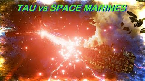 TAU vs Space Marines! Rank 29, Heroic Difficulty, 1500 Points - Battlefleet Gothic Armada