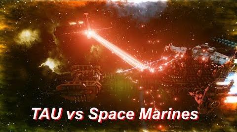 TAU vs Space Marines! Rank 31, Heroic Difficulty, 1500 Points - Battlefleet Gothic Armada