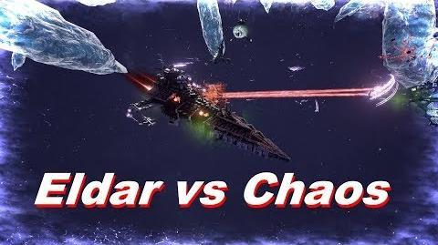 Eldar vs Chaos! Rank 79, Heroic Difficulty, 1500 Points - Battlefleet Gothic Armada