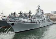 Missile cruiser Varyag in Vladivostok, 2010
