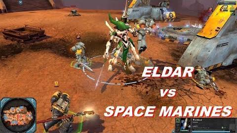 Eldar vs Space Marines - Warhammer 40k Dawn Of War 2 Retribution - SupaEpicFun Mod