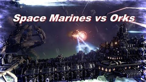 Space Marines vs Orks! Rank 122, Heroic Difficulty, 1500 Points - Battlefleet Gothic Armada