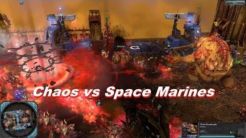 Chaos Space Marines vs Space Marines - Warhammer 40k Dawn Of War 2 Retribution - SupaEpicFun Mod